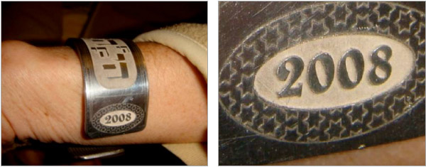 Figure 1 & 2. Examples of Deep Engraving by our redENERGYG4 Pulsed Laser - Images courtesy of LMco