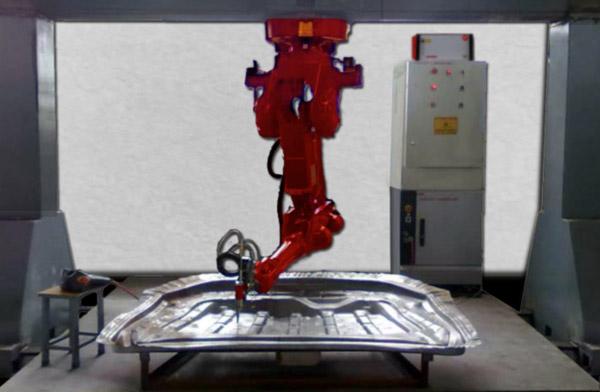Figure 2. 3D Laser cutting of sheet metal