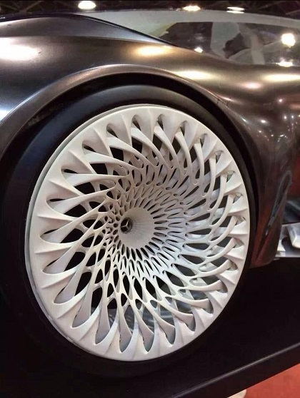 A Mercedes wheel developed using 3D printing rapid prototyping technology