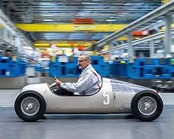 Audi's replica of the 1936 Auto Union Type C grand prix car