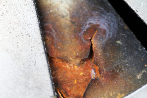 Residual stress levels from the dissimilar metal welding process can cause shorter fatigue life and cracking in the metals