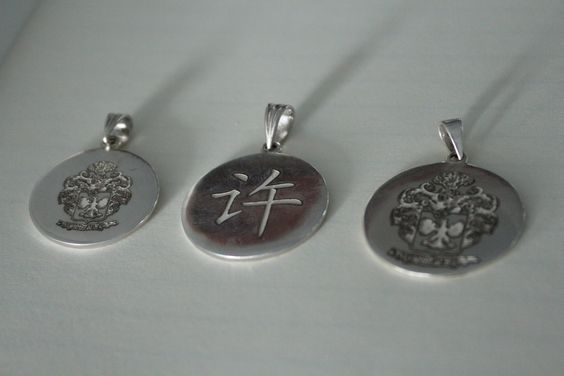 Fiber laser engraving silver pendants spi lasers engraving jewellery aloadofball Image collections