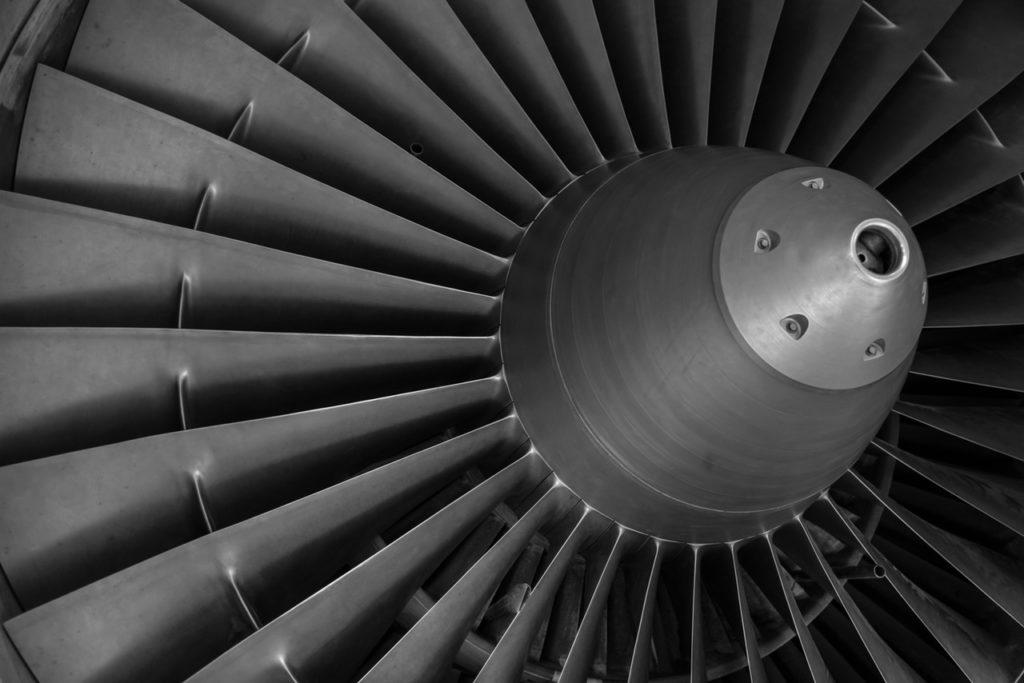 Turbine engine thru-holes