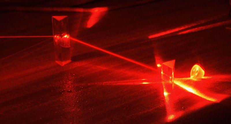 A helium-neon laser