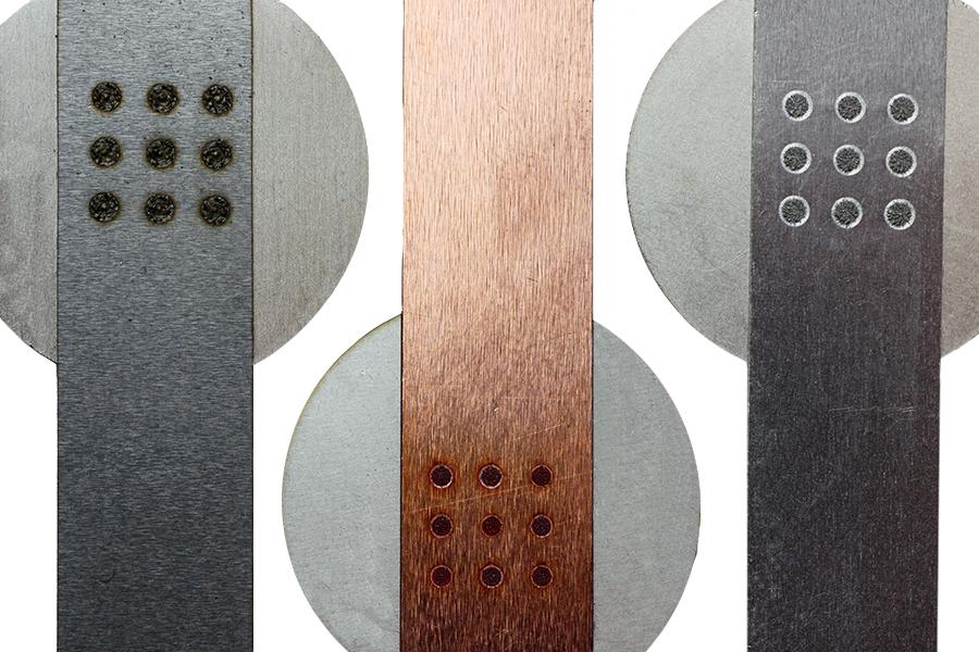Рис/ 1: Наносекундная (ns) сварка алюминия, нержавеющей стали, мягкой стали и меди.