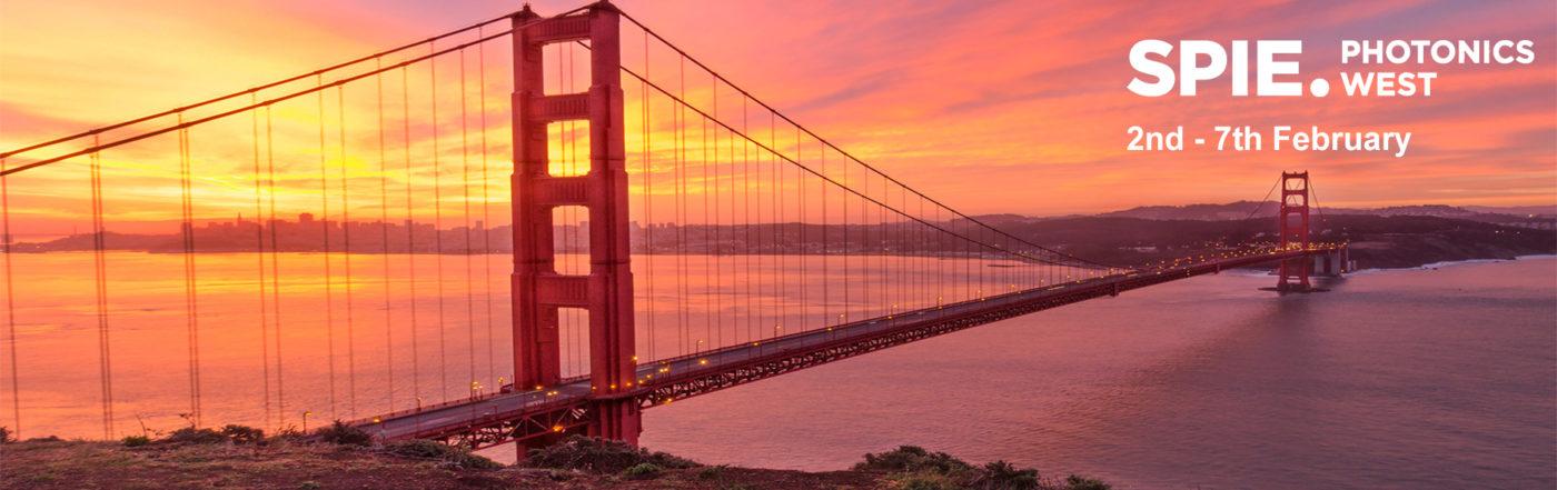 Photonics West 2019 Golden Gate Bridge Banner